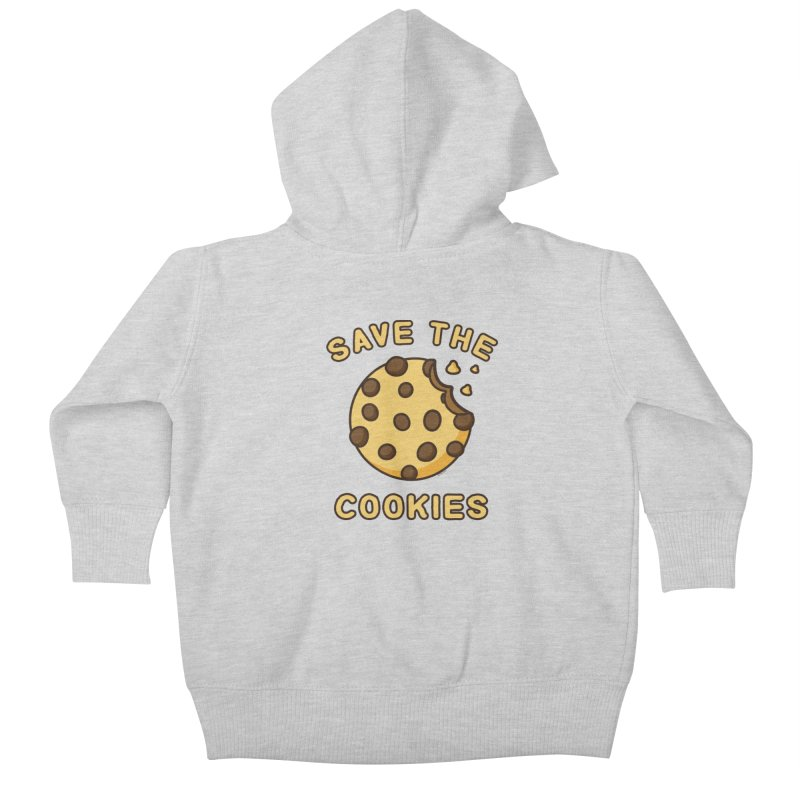 Save The Cookies Kids Baby Zip-Up Hoody by Toxic Onion