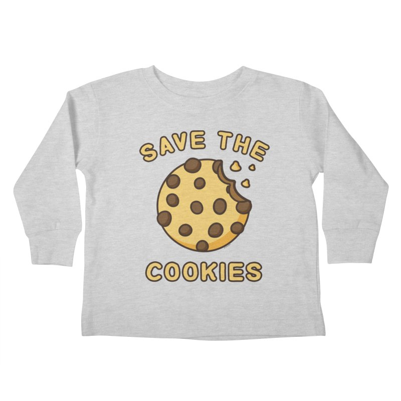 Save The Cookies Kids Toddler Longsleeve T-Shirt by Toxic Onion