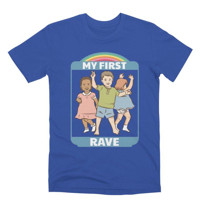 My First Rave Men's Premium T-Shirt by Toxic Onion