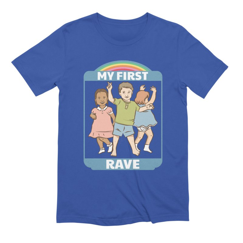 My First Rave Men's Extra Soft T-Shirt by Toxic Onion