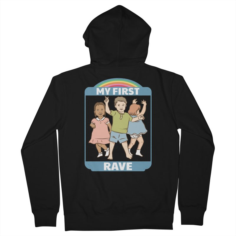 My First Rave Women's French Terry Zip-Up Hoody by Toxic Onion