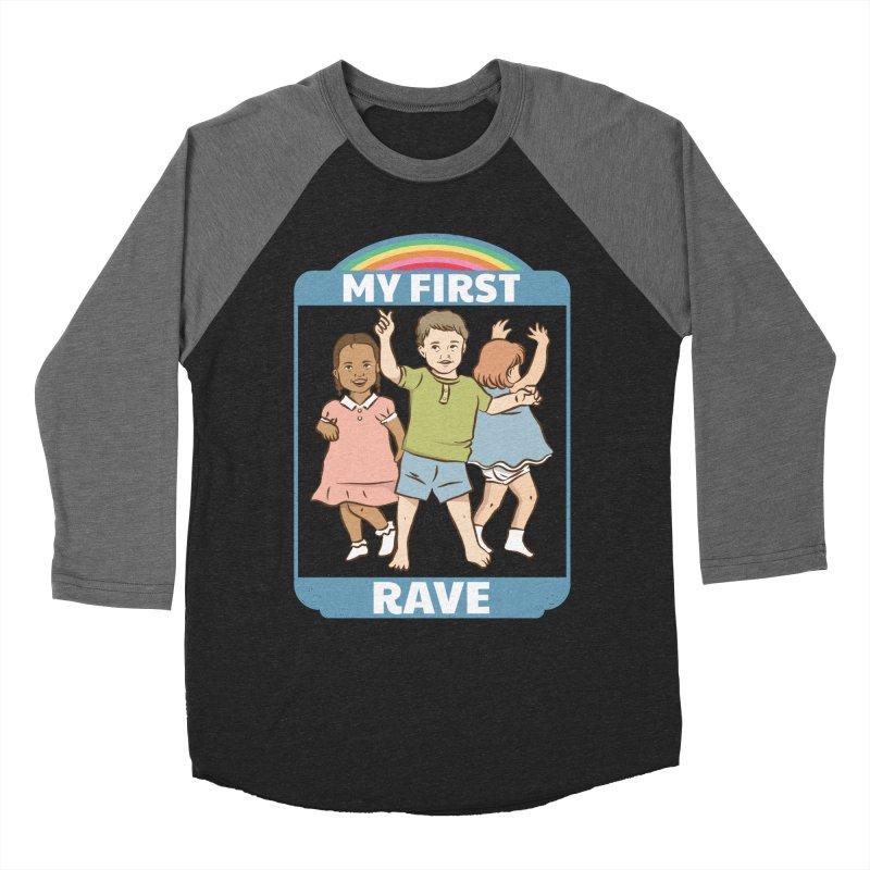 My First Rave Women's Baseball Triblend Longsleeve T-Shirt by Toxic Onion