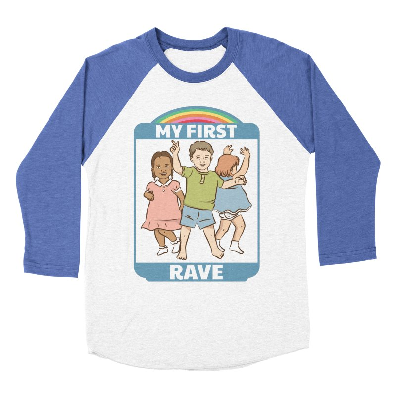 My First Rave Men's Baseball Triblend Longsleeve T-Shirt by Toxic Onion
