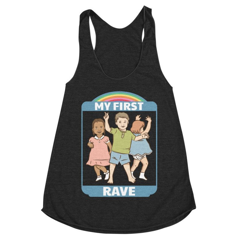 My First Rave Women's Racerback Triblend Tank by Toxic Onion