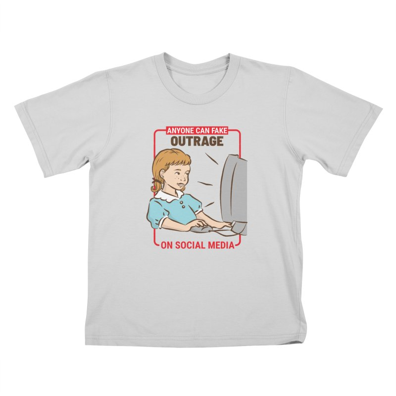 Anyone Can Fake Outrage Kids T-Shirt by Toxic Onion