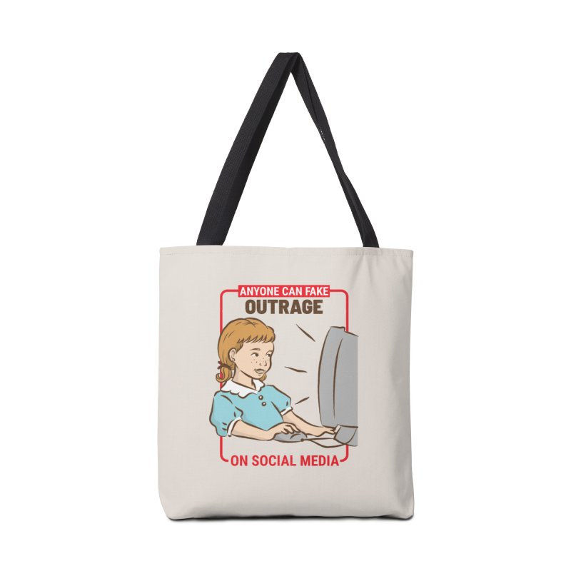 Anyone Can Fake Outrage Accessories Tote Bag Bag by Toxic Onion