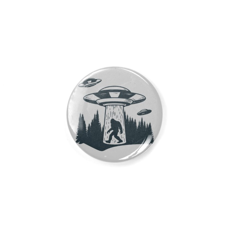 Alien UFO Abduction Of Bigfoot Accessories Button by Toxic Onion