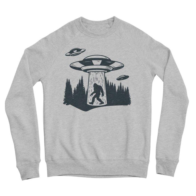 Alien UFO Abduction Of Bigfoot Men's Sponge Fleece Sweatshirt by Toxic Onion