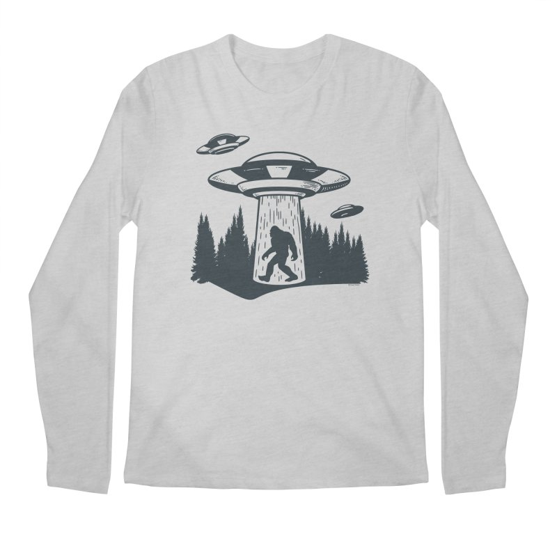 Alien UFO Abduction Of Bigfoot Men's Regular Longsleeve T-Shirt by Toxic Onion