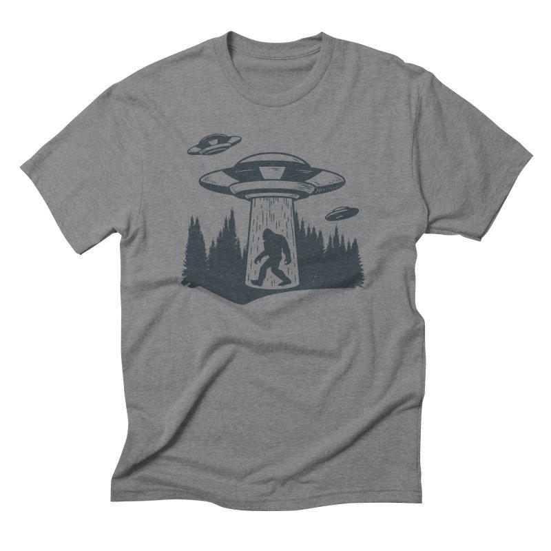 Alien UFO Abduction Of Bigfoot Men's Triblend T-Shirt by Toxic Onion