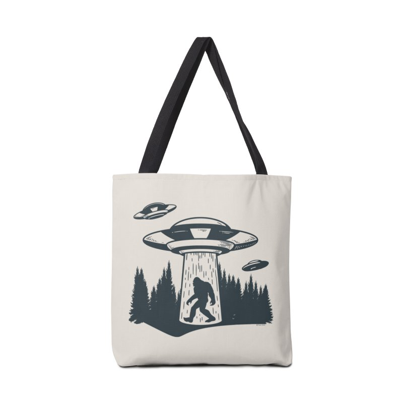 Alien UFO Abduction Of Bigfoot Accessories Tote Bag Bag by Toxic Onion