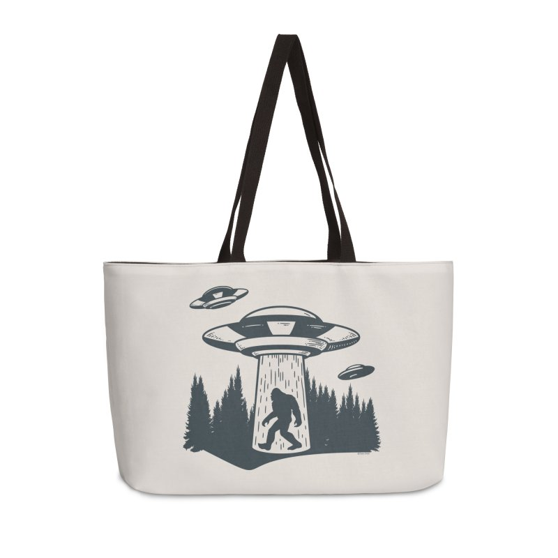 Alien UFO Abduction Of Bigfoot Accessories Weekender Bag Bag by Toxic Onion