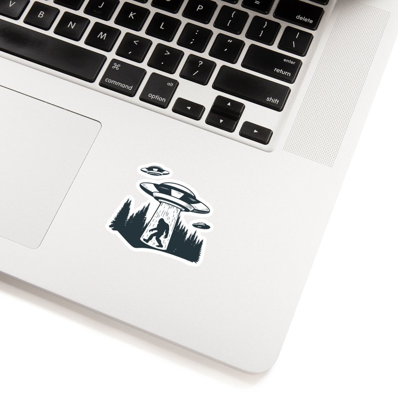 Alien UFO Abduction Of Bigfoot Accessories Sticker by Toxic Onion