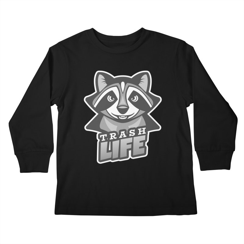 Trash Life Kids Longsleeve T-Shirt by Toxic Onion