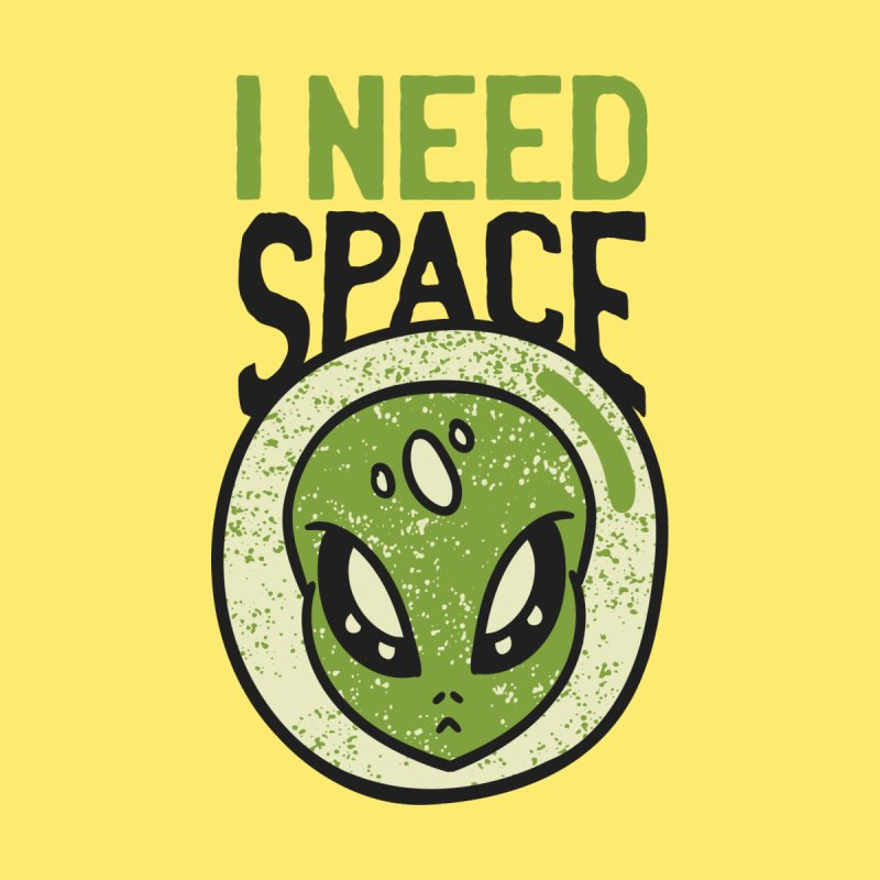 An Alien Needs Space Men's T-Shirt by Toxic Onion