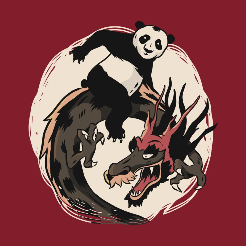 Panda Riding A Dragon Men's T-Shirt by Toxic Onion