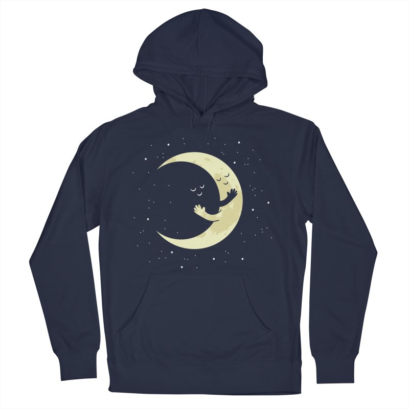 Moon Hug Men's French Terry Pullover Hoody by Toxic Onion