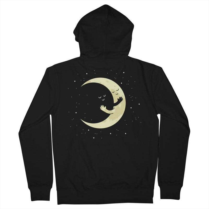 Moon Hug Men's French Terry Zip-Up Hoody by Toxic Onion