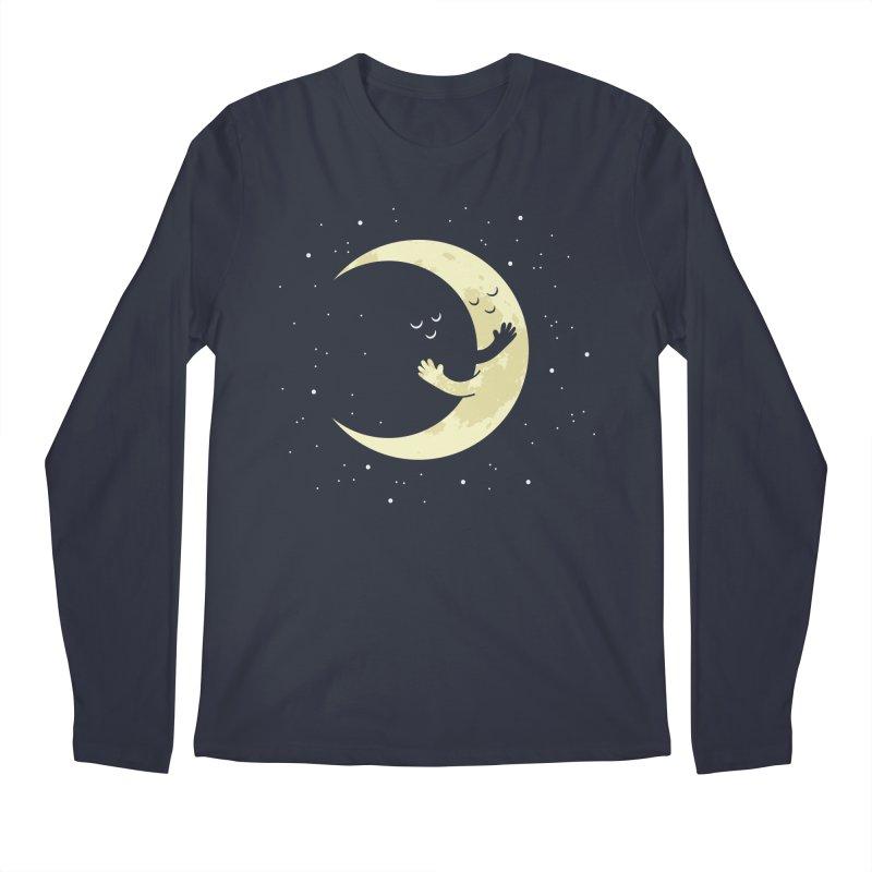 Moon Hug Men's Regular Longsleeve T-Shirt by Toxic Onion