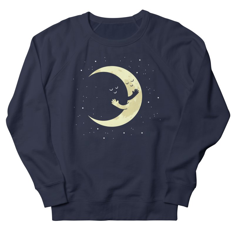 Moon Hug Men's French Terry Sweatshirt by Toxic Onion