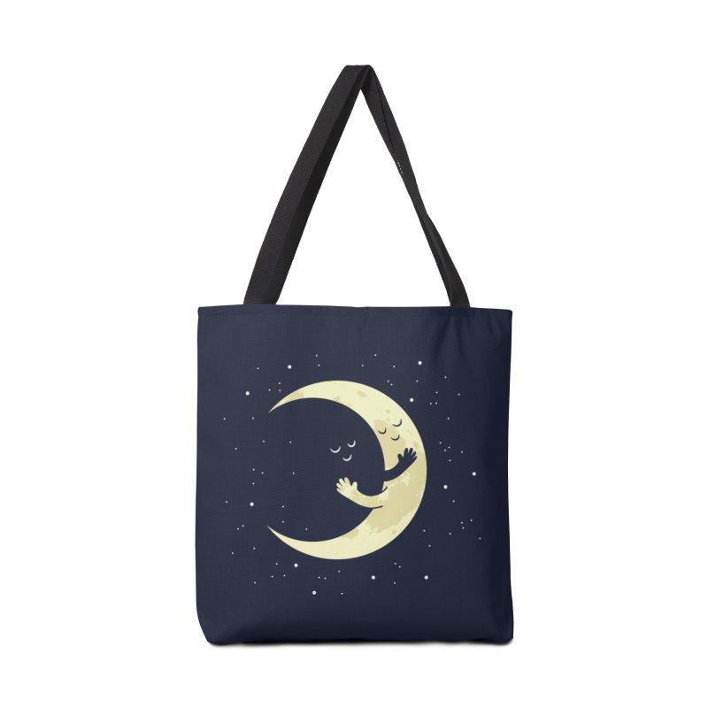 Moon Hug Accessories Tote Bag Bag by Toxic Onion