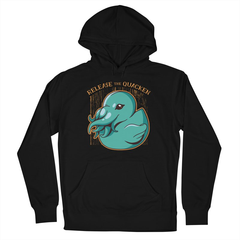 Release The Quacken Men's French Terry Pullover Hoody by Toxic Onion