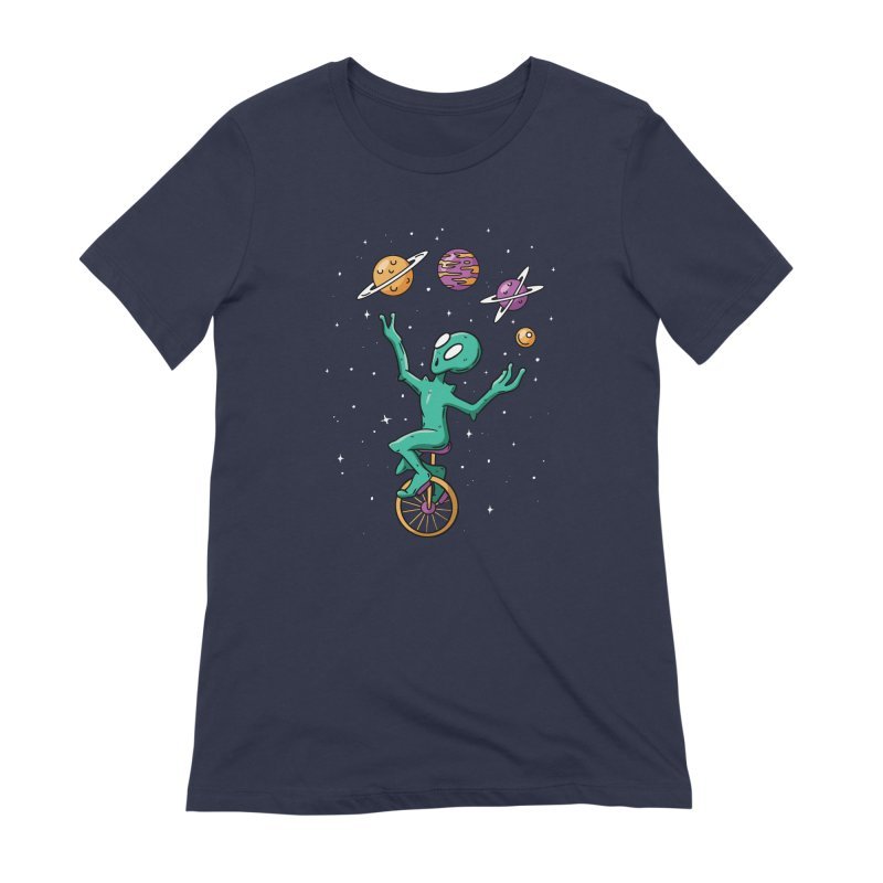 Planet Juggling Alien Women's Extra Soft T-Shirt by Toxic Onion