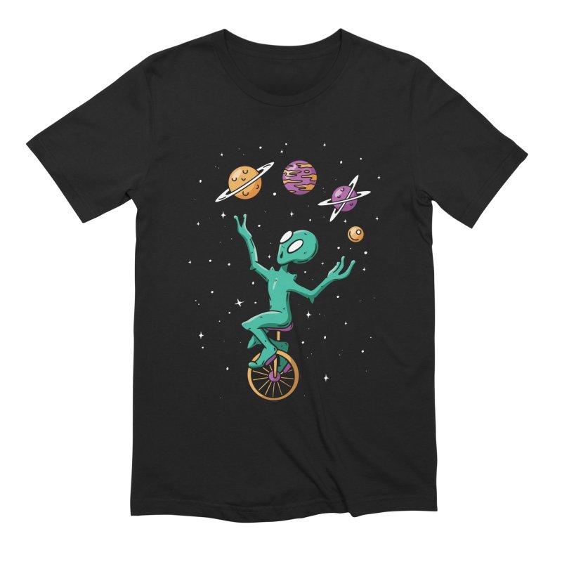 Planet Juggling Alien Men's T-Shirt by Toxic Onion