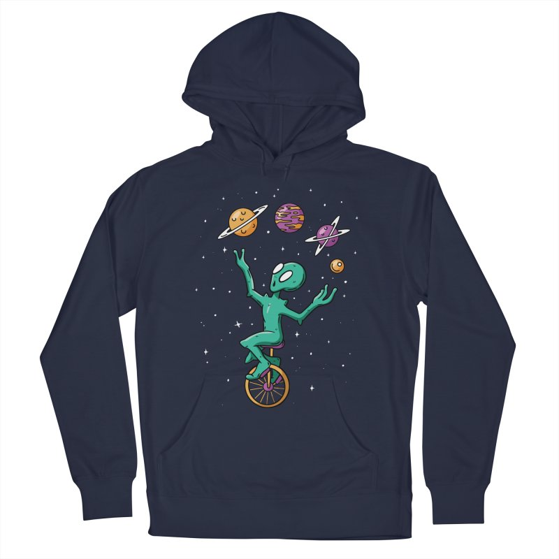 Planet Juggling Alien Men's French Terry Pullover Hoody by Toxic Onion