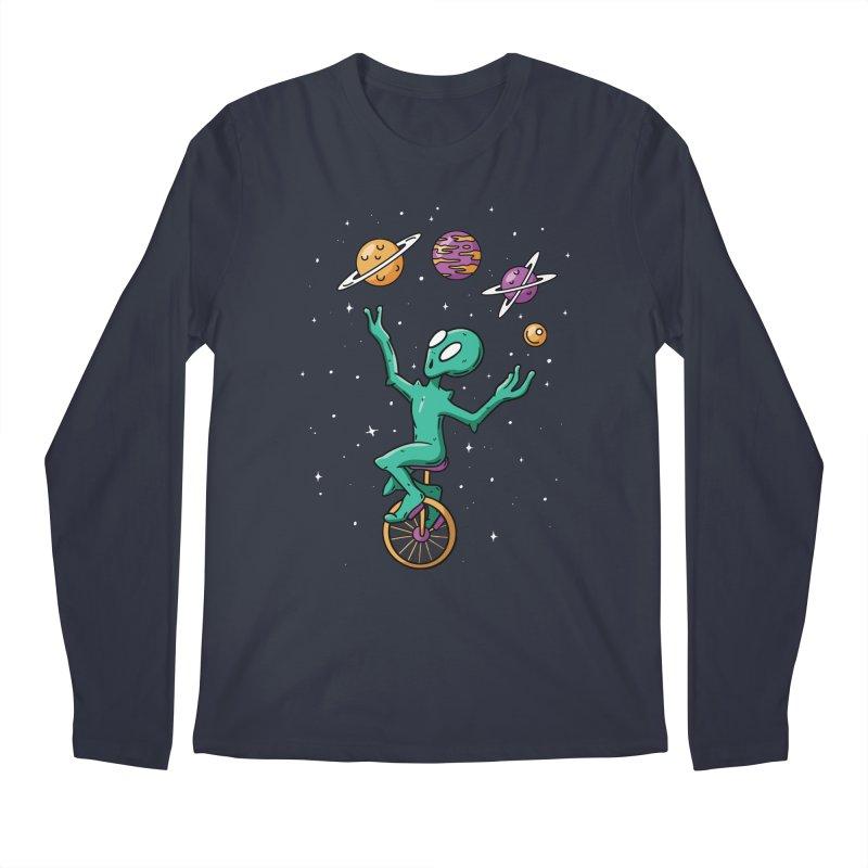 Planet Juggling Alien Men's Regular Longsleeve T-Shirt by Toxic Onion