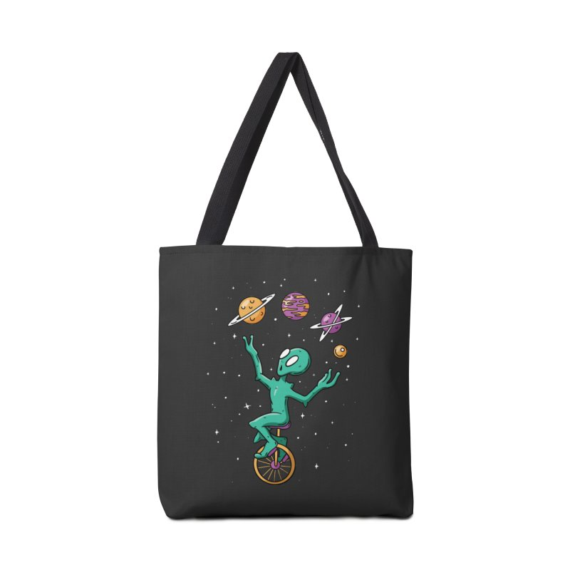 Planet Juggling Alien Accessories Tote Bag Bag by Toxic Onion