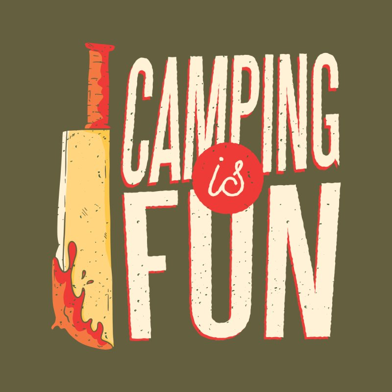 Camping Is Fun Men's Pullover Hoody by Toxic Onion