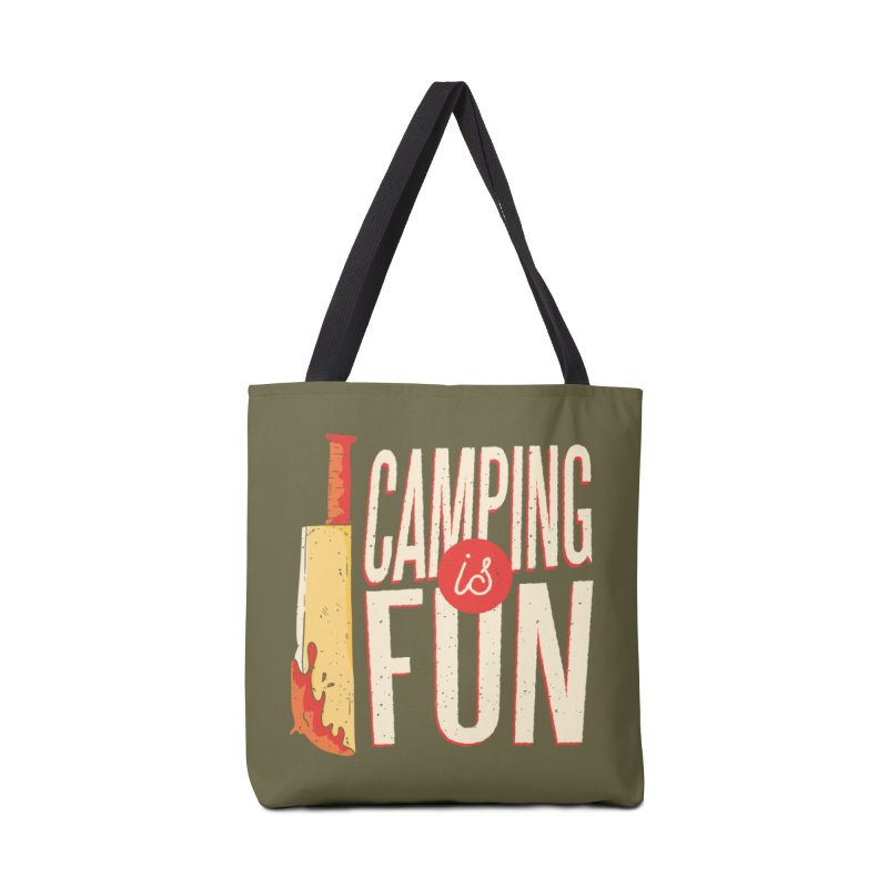 Camping Is Fun Accessories Bag by Toxic Onion