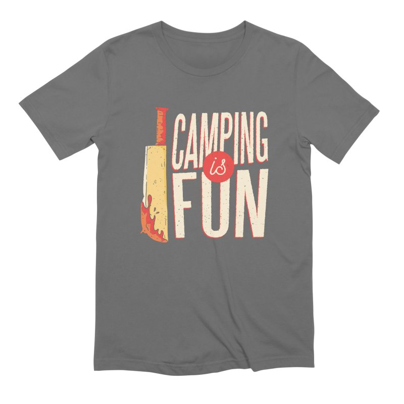 Camping Is Fun Men's T-Shirt by Toxic Onion