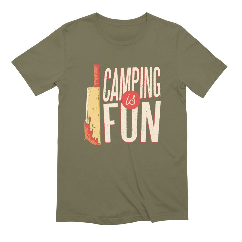 Camping Is Fun Men's Extra Soft T-Shirt by Toxic Onion