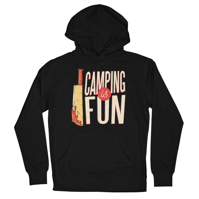 Camping Is Fun Men's French Terry Pullover Hoody by Toxic Onion