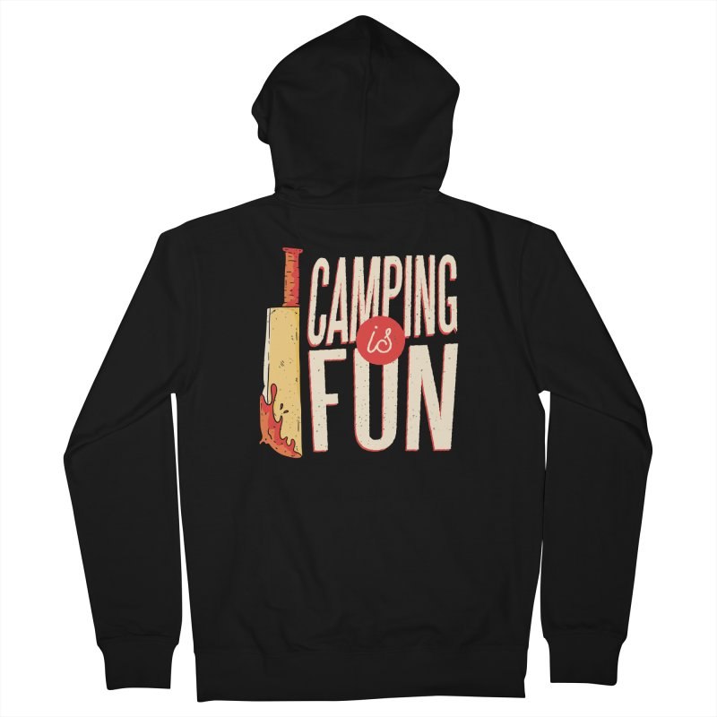 Camping Is Fun Men's French Terry Zip-Up Hoody by Toxic Onion