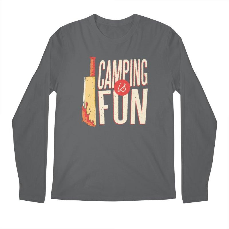 Camping Is Fun Men's Longsleeve T-Shirt by Toxic Onion