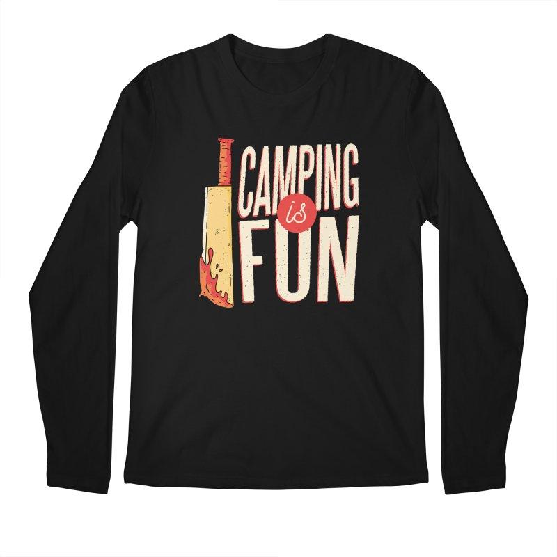 Camping Is Fun Men's Regular Longsleeve T-Shirt by Toxic Onion