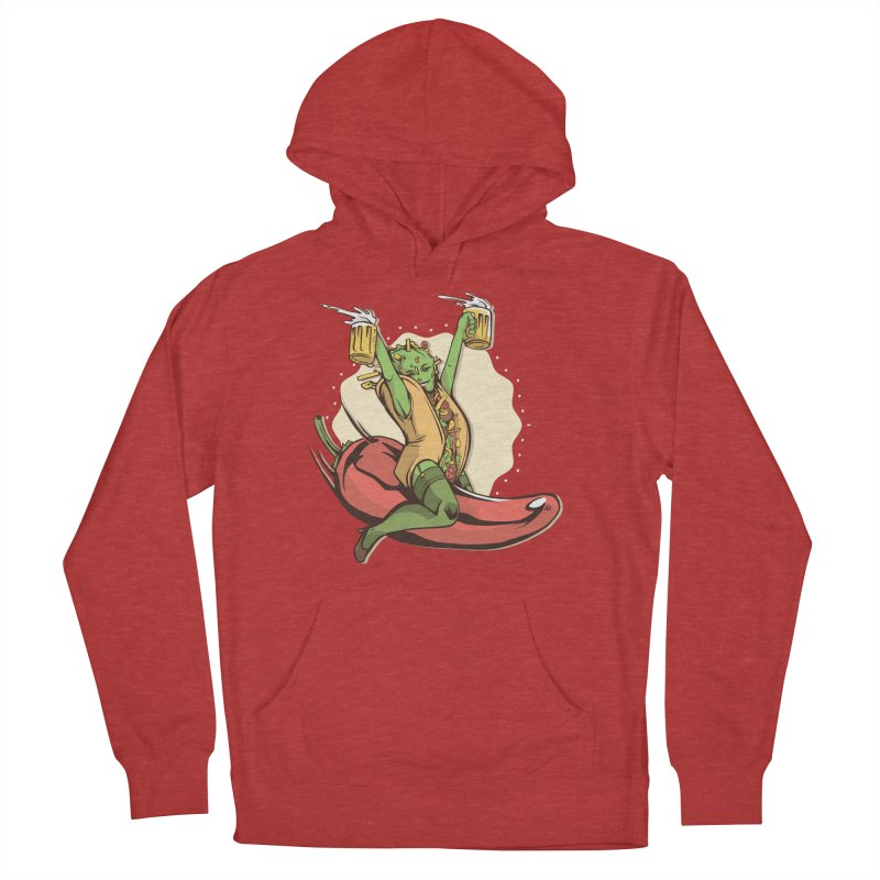 Hot Taco Girl Men's French Terry Pullover Hoody by Toxic Onion
