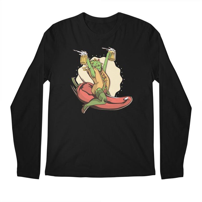 Hot Taco Girl Men's Longsleeve T-Shirt by Toxic Onion