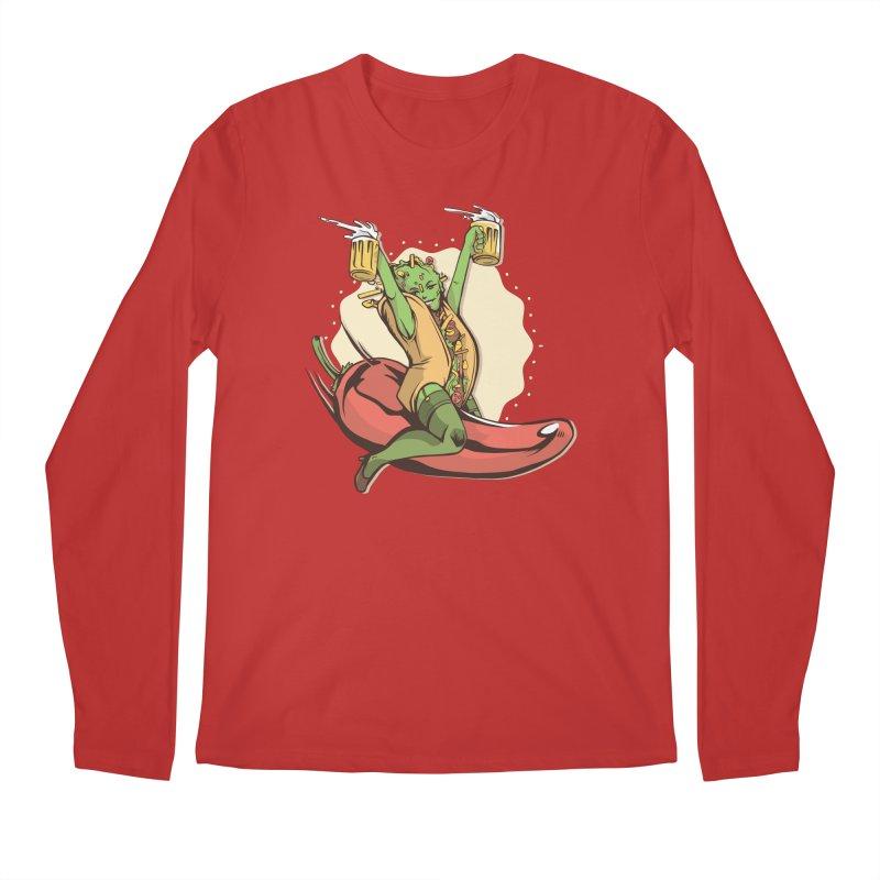 Hot Taco Girl Men's Regular Longsleeve T-Shirt by Toxic Onion