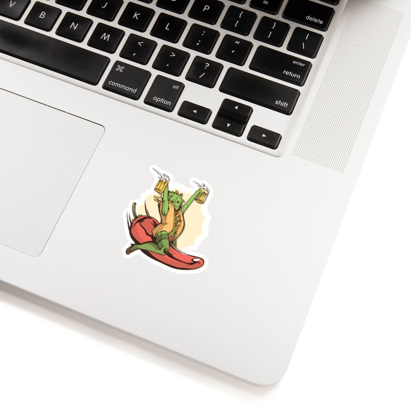 Hot Taco Girl Accessories Sticker by Toxic Onion