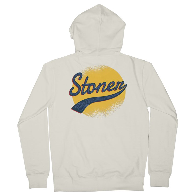 Stoner Men's French Terry Zip-Up Hoody by Toxic Onion