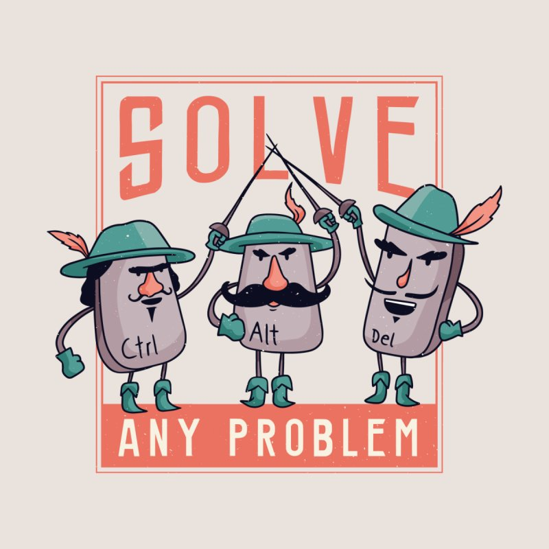 Solve Any Problem Accessories Magnet by Toxic Onion