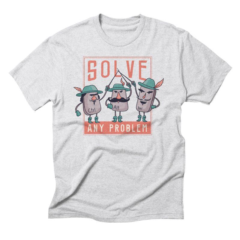 Solve Any Problem Men's T-Shirt by Toxic Onion - A Popular Ventures Company