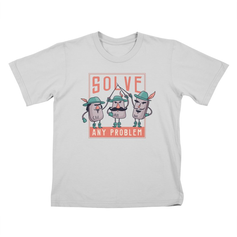 Solve Any Problem Kids T-Shirt by Toxic Onion