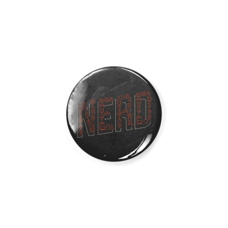 Nerd Accessories Button by Toxic Onion