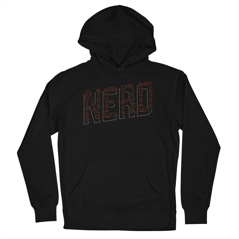 Nerd Men's French Terry Pullover Hoody by Toxic Onion