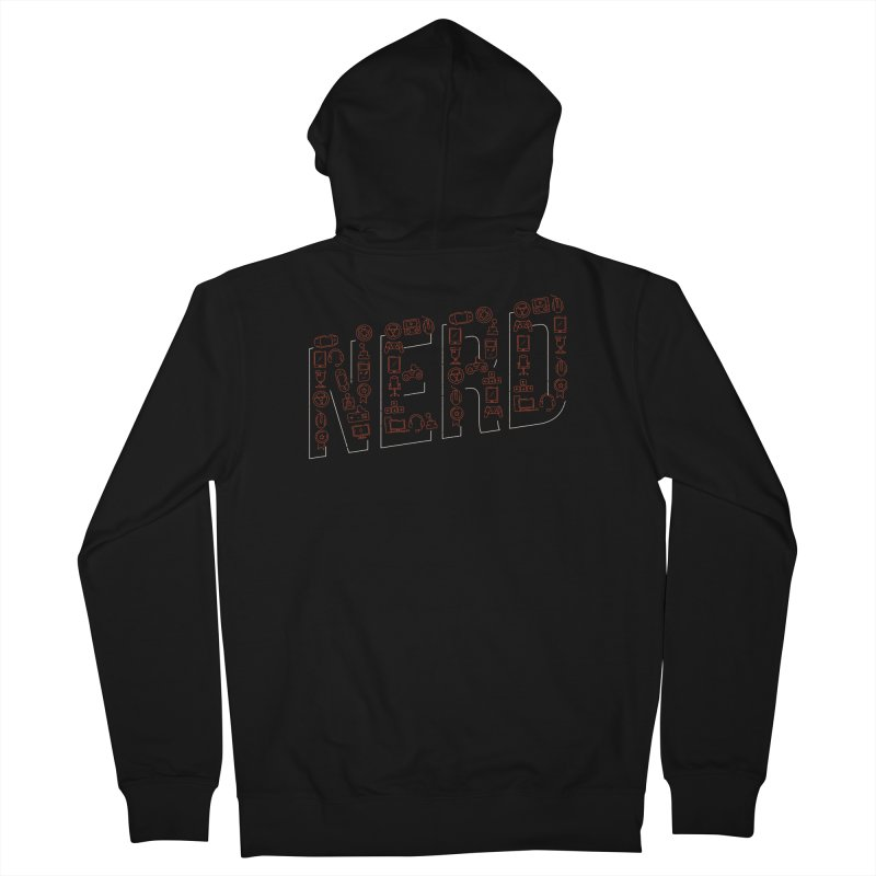 Nerd Men's French Terry Zip-Up Hoody by Toxic Onion